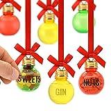 Bar Amigos Weihnachtskugeln mit Buchstabenaufklebern zum Personalisieren und Befüllen des eigenen Geschenksets zum Dekorieren mit Süßigkeiten, Nüssen, Schnaps, Gin, Wodka, Whisky, Rum