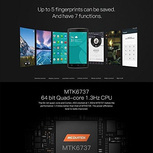 Smartphone Libres  DOOGEE X5 MAX PRO Telefono M  vil Libre Baratos  Dual SIM  5 Pantalla IPS  8MP C  mara  2GB RAM 16GB ROM  4000mAh  Android 6 0  Hue