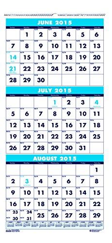 House of Doolittle giugno 2015-Luglio 2016anno accademico Calendario da Muro, tre mesi View, 20,3x 43,2cm, (hod3645-16)