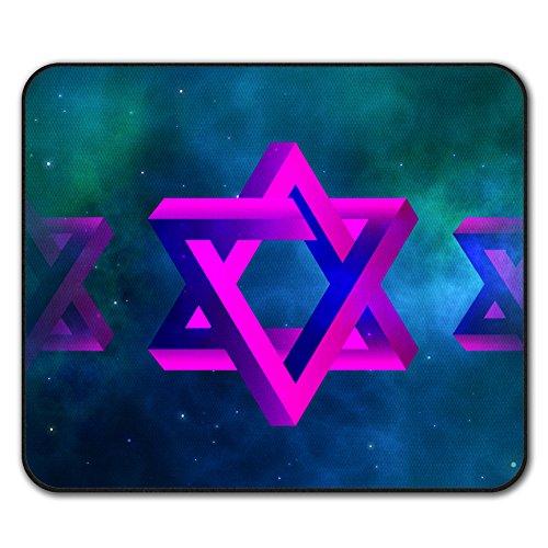 etoile-de-david-symbole-judaisme-antiderapant-tapis-de-souris-24cm-x-20cm-wellcoda