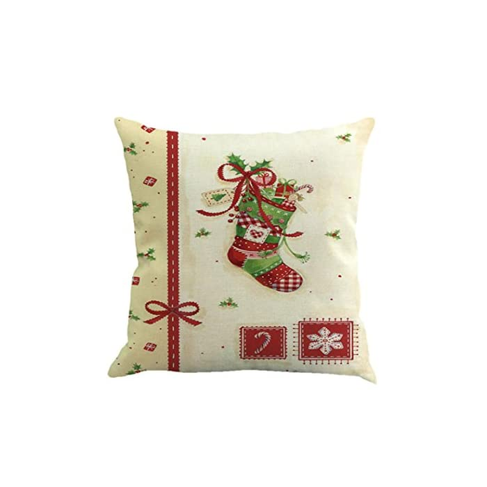 Kavitoz Hot Sale Christmas Pillow Case Printing Dyeing Sofa Bed