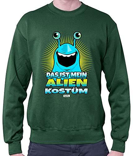 HARIZ Herren Pullover Das Ist Mein Alien Kostüm 2 Karneval Kostüm Plus Geschenkkarten Dunkel Grün S