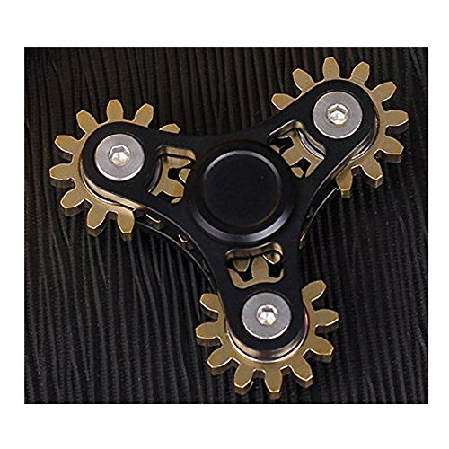 Preisvergleich Produktbild Metal Fidget Spinner Brass Gear Stainless Steel Bearings Aluminum Body Finger Spinner Toy Stress Reducer