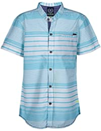 Super Young Shirt for Boys - White and Blue Shirts - Striped Shrit - Cotton Material - Stylish Shirt for Boys - with Front Pocket