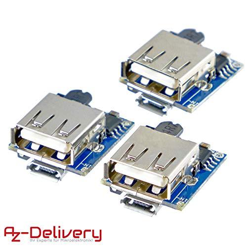 AZDelivery ⭐⭐⭐⭐⭐ Power Bank Modul Laderegler TP5400 Micro USB und USB Anschluss für Arduino