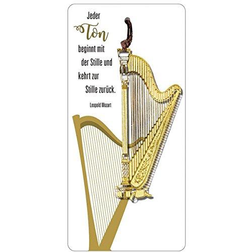 Messing-Lesezeichen »Harfe«