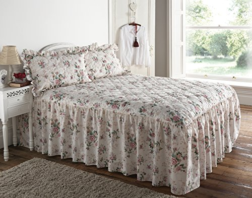 musbury Betthusse Rose Garden Traditionelle Floral Tagesdecke gesteppt, 100% Polyester / 50% Baumwolle / 50% Polyester / Baumwolle / Polyester, Einzelbett