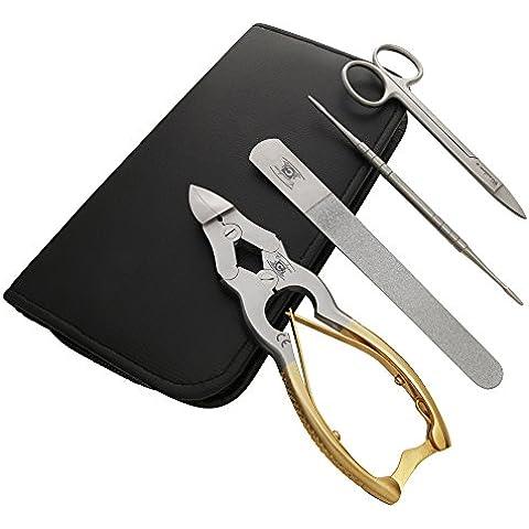 CANDURE®- 4 Ps professionale oro TAGLIATORI CANTILEVER 16 cm CON LE FORBICI chiodo della punta PER SPESSORE unghie dei piedi. ACCIAIO INOX SOLID