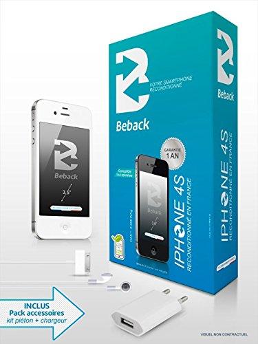 Beback iPhone 4S Smartphone débloqué 3G+ (Ecran: 3,5 pouces - 16 Go - Simple Micro-SIM - iOS 5) Blanc