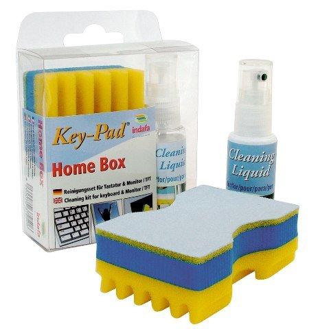Key-Pad Home-Box   Reinigungsset für PC-Tastatur und Monitor (TFT/LCD-Bildschirme)