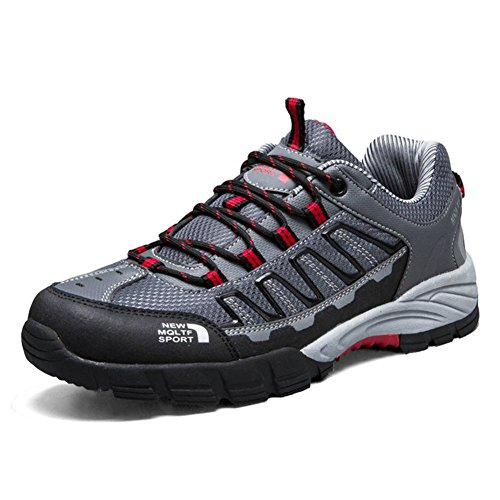 Coolgoing Männer Outdoor-Walking-Schuhe Trekkingschuhe Sneakers männlich leichte atmungsaktive Trail Running Kletterschuhe männlich , Gray , 41