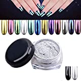 censhaorme Spiegeleffekt Funkeln-Staub-Magie Shimmer Powder Nail Art Tipps Chrome Glitters