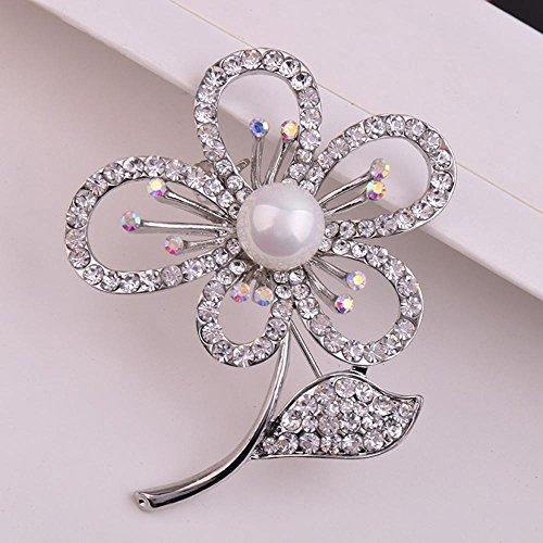 MAFYU Brosche,Perlenschmuck Brosche Lady Brosche Blume Weihnachtskleidung Zubehör