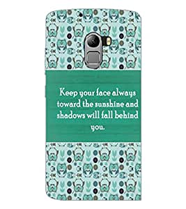 PrintDhaba Quote D-3688 Back Case Cover for LENOVO K4 NOTE A7010 (Multi-Coloured)