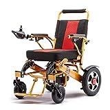 GOAIJFEN Sedia a rotelle elettrica Pieghevole Leggera Carrozzina elettrica Compact Power Chair Drive Fino a 15 km Gamma per Anziani disabili,Black-OneSize