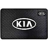 H & S Designer Studio Car Dashboard Anti-Slip and Non-Sticky Mat for Mobile Phones (KIA Design)