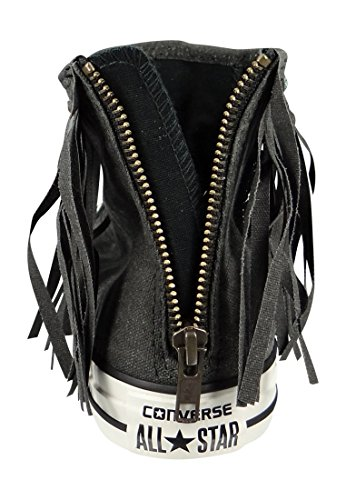 Converse All Star Fringe Hi W chaussures Black Black Egret