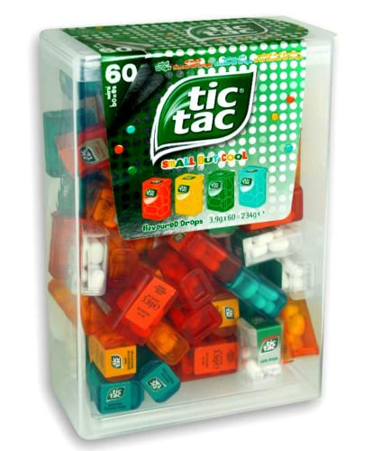 TIC TAC Spender Box with 60 Mini Boxes (Each 3.8 Grams)
