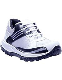 Savie Shoes White&Black Men's Casual Sport Shoes SSHVV07