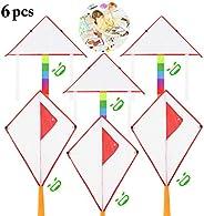 Outgeek 6PCS Kids Kite Creative Outdoor Kite Game Toy Kite Flying Kite with Flying Kite