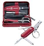Zwilling Manicure Reißverschluss-Etui 4-teilig rot mit Taschenmesser