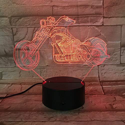 BDQZ Motor Bike Nachtlicht7 Farben Ändern 3D LED Lampe Riesenrad Racing Motorrad Tragbare Lichter Freunde Kinder Geburtstag Licht -