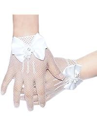 4-14 años de flores chicas fishnet guantes de la boda primera comunión baile de gala estudiantil cumpleaños fiestas