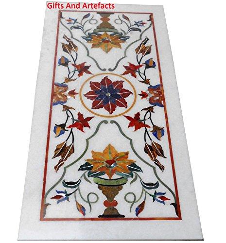 152,4x 76,2cm Rechteck weiß Marmor Konferenz Tisch Top Multi Farbe Stein Inlay Luxus Design
