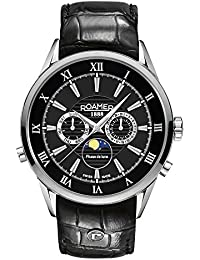 Roamer Men's Quartz Watch with Black Dial Chronograph Display and Black Leather Strap 508821 41 53 05