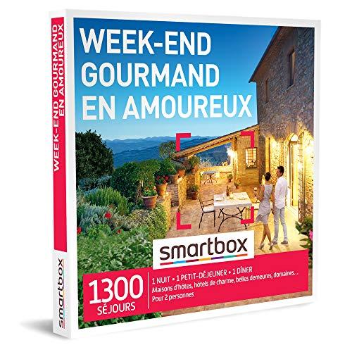 SMARTBOX - Coffret Cadeau couple - Week-end gourmand en amoureux - idée cadeau -...