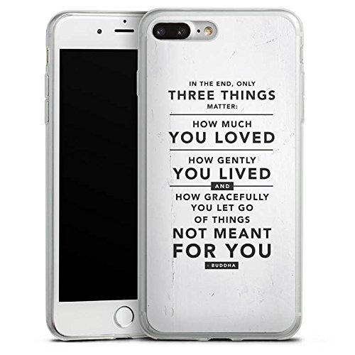 Apple iPhone 8 Slim Case Silikon Hülle Schutzhülle Sprüche Statement Weiß Silikon Slim Case transparent