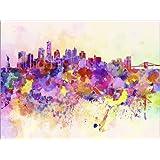 Cuadro sobre lienzo 70 x 50 cm: New York Skyline de Colourbox - cuadro terminado, cuadro sobre bastidor, lámina terminada sobre lienzo auténtico, impresión en lienzo