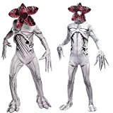 Pole shop Stranger 3 Costume per Bambini e Adulti, Demogorgon Zombie Halloween Costume Set Cosplay Horror Cannibal Flower Body with Mask