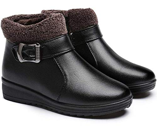 Mujer Botas de Nieve Zapatos Invierno Impermeables Calientes Botine Forradas Cortas Tobillo...