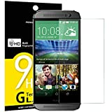 Panzerglas HTC One M8, M8s, NEWC® Tempered Glass 9H Härte, Frei von Kratzern Fingabdrücken und Öl, HD Displayschutzfolie, 0.33mm Ultra-klar, panzerglas schutzfolie für HTC One M8, M8s
