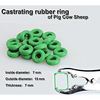 LVEDU 100pcs/lot Good Elasticity Strong Toughness Castrating Rubber Ring Castration Circle for Castrating Pliers 15