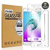 Owbb 2 Stück Weiß Gehärtetes Glas Display schutzfolie Für Samsung Galaxy A5 (2016) A510 5.2zoll Full Coverage Schutz 99% High Transparent Explosionsgeschützter Film