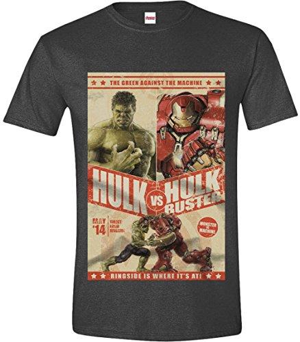 Codi - Avengers T Shirt Hulk Vs Hulkbuster Taglia M