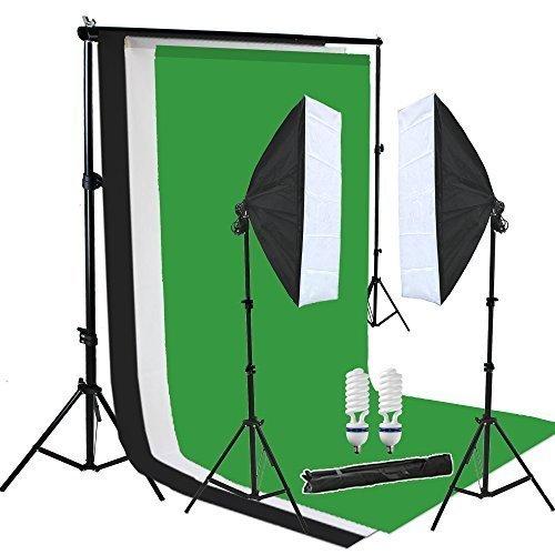 PMS 2x 50x70cm softbox continua Iluminación Kit estudio