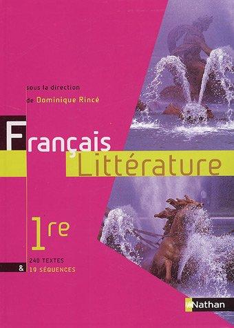 Français Littérature 1e