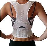 AGIA TEX Geradehalter für Rücken Schulter Haltungskorrektur Rückenstabilisator Wirbelsäule für Damen und Herren Neopren Schulterträger verstellbar atmungsaktiv XXL Weiß