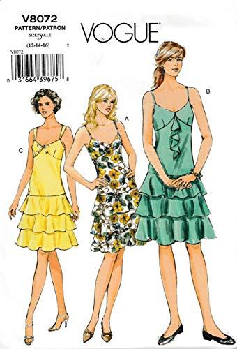 Vogue 8072Schnittmuster Umstandsmode Kleid Jumper Bluse Hemd Tunika Pullover Joch Ärmel Taschen Knöpfe Top Vintage Größe 12 12 - Vogue Vintage Jumper