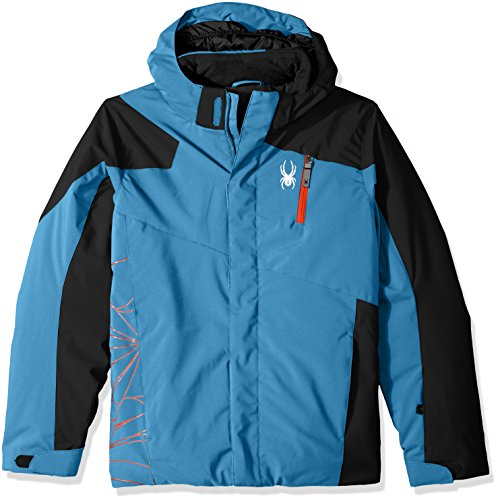 Spyder Jungen Skijacke Guard, Jungen, 231015, French Blue/Black, 42