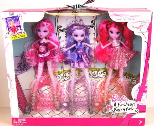 BARBIE A Fashion Fairytale - FLAIRY DOLLS - 3 Sammler Puppen in Geschenkbox - aus USA (A Barbie Fairytale Fashion)