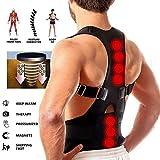Real Doctor Posture Corrector, Shoulder Back Support Belt for Men and Women (Black)