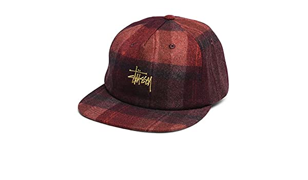 Stussy Smooth Wool Snapback Cap - Burgundy-One Size  Amazon.co.uk  Clothing cdc6fb6ae602