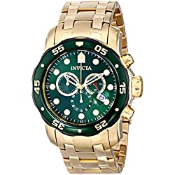 Invicta 80072 - Reloj para hombres, correa de acero inoxidable chapado color dorado