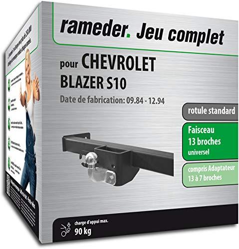 Rameder Pack attelage rotule Standard 2 Trous pour Chevrolet Blazer S10 + Faisceau électrique 13 Broches (159930-03514-1-FR)
