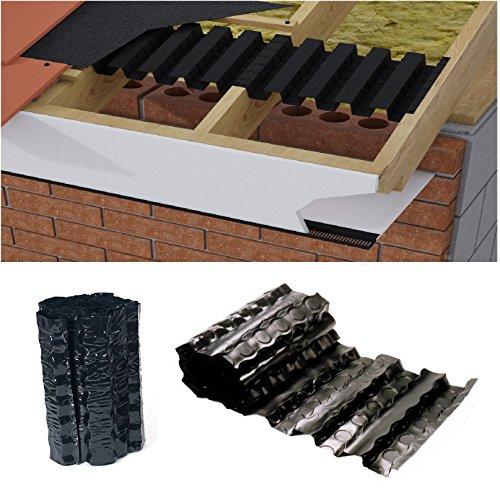 6 Metre von Pulverbeschichteten VentMount gerollt EAVES Platte/Tablett LOFT Dachsparren Belüftung