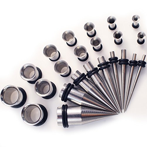gauge-gearaar-stainless-steel-28-piece-ear-stretchers-expander-kit-tapers-and-steel-tunnels-13mm-10m